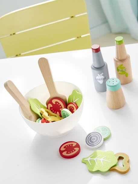 Wooden Salad Set GREEN LIGHT 2 COLOR/MULTICOLOR
