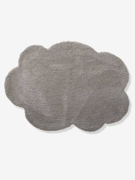 Large Cloud Rug BLUE LIGHT SOLID+GREY MEDIUM SOLID