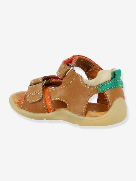 Leather Sandals for Baby Boys, Transat by Babybotte® BEIGE MEDIUM SOLID+GREY MEDIUM SOLID