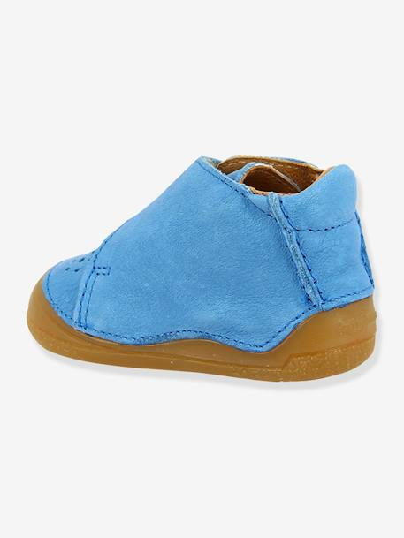 Touch-Fastening Leather Ankle Boots for Boys, Zenitude by Babybotte® BEIGE MEDIUM SOLID+BLUE BRIGHT SOLID