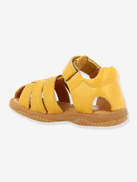 Leather Sandals for Baby Boys, Tafari by Babybotte® BEIGE MEDIUM SOLID+BLUE DARK SOLID+YELLOW MEDIUM SOLID