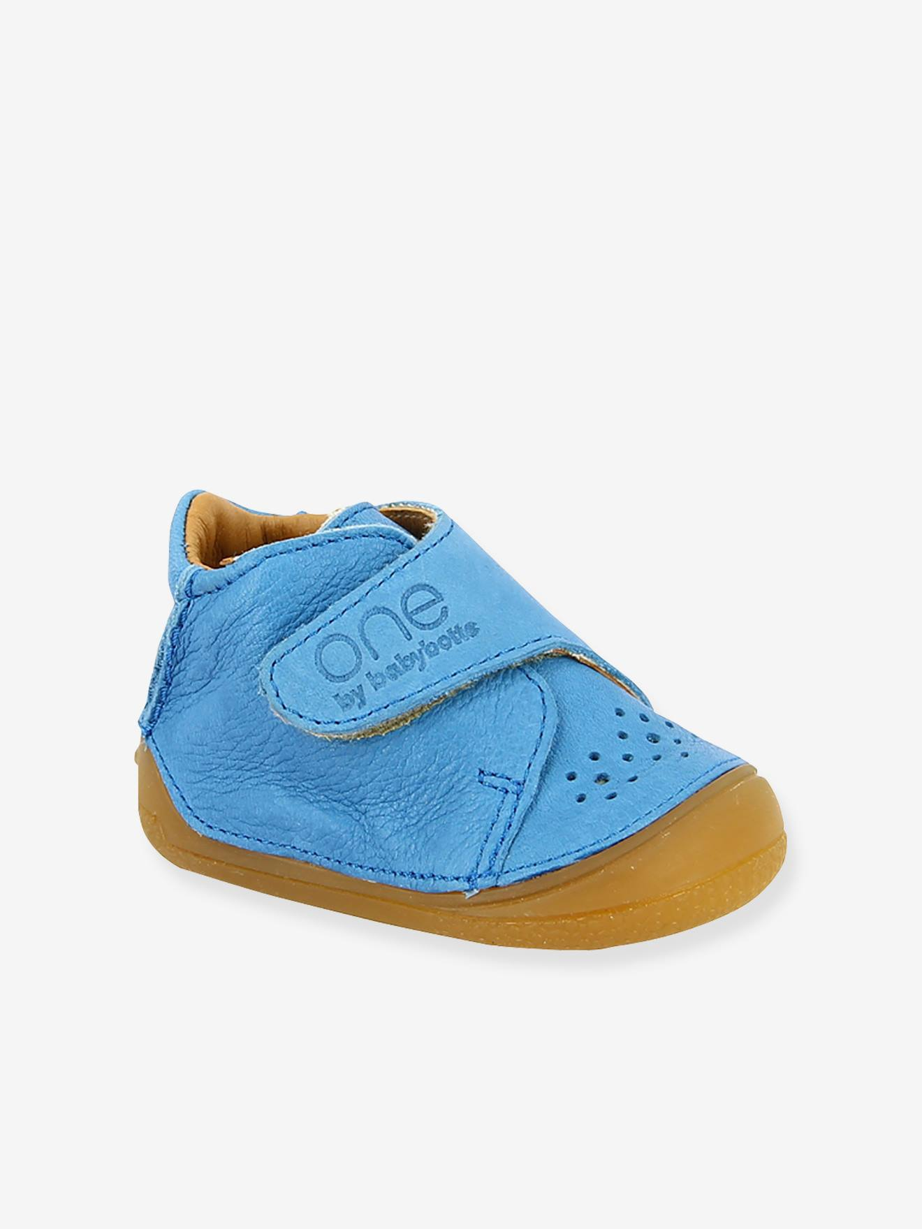 2018 sneakers discount sale search for genuine Touch-Fastening Leather Ankle Boots for Boys, Zenitude by Babybotte® - blue  bright solid, Shoes | Vertbaudet