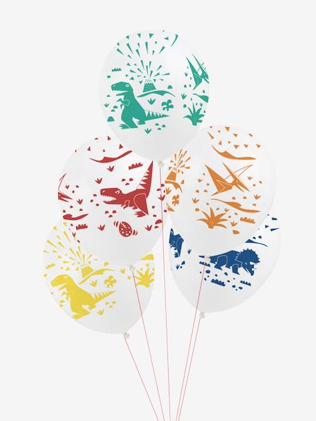 Set of 5 Balloons, MY LITTLE DAY GREEN MEDIUM ALL OVER PRINTED+WHITE BRIGHT ALL OVER PRINTED