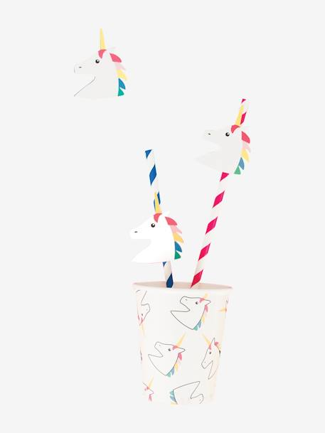 Set of 12 Paper Straws, MY LITTLE DAY GREEN MEDIUM ALL OVER PRINTED+WHITE BRIGHT ALL OVER PRINTED+WHITE MEDIUM ALL OVER PRINTED+YELLOW MEDIUM ALL OVER PRINTED