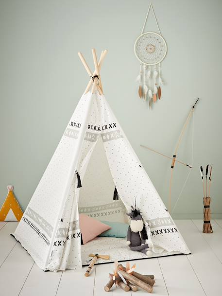 Cheyenne Teepee WHITE LIGHT ALL OVER PRINTED