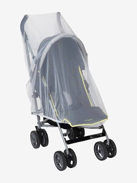 Mosquito Net for Pushchair & Extra Bed WHITE LIGHT SOLID