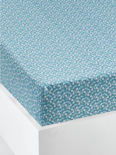 Children's Fitted Sheet, STARLINGS Theme BLUE MEDIUM ALL OVER PRINTED