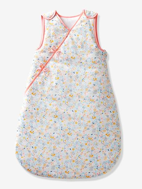 Sleeveless Baby Sleep Bag, Wrap-over Model, Koala and Flowers Theme BLUE MEDIUM ALL OVER PRINTED+PINK LIGHT ALL OVER PRINTED