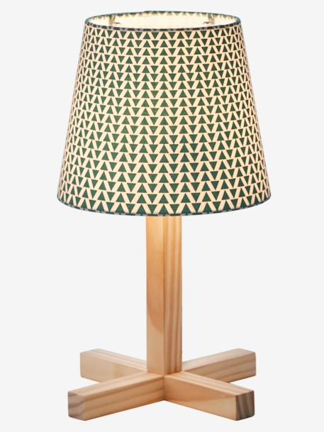 Bedside Table Lamp GREEN MEDIUM ALL OVER PRINTED+ORANGE MEDIUM ALL OVER PRINTED