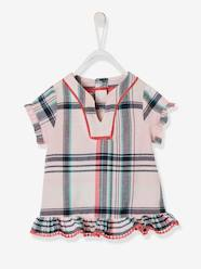 Baby-Blouses & Shirts-Checked Blouse for Baby Girls