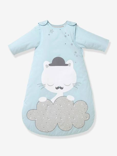 Baby Sleep Bag with Detachable Sleeves, Cat Theme CATNIP