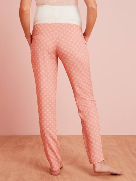 Maternity Printed Pyjama Bottoms PINK LIGHT ALL OVER PRINTED