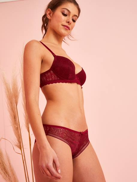 Nursing Bra with Lace at the Front & Back BLACK DARK SOLID+RED DARK SOLID+WHITE LIGHT SOLID