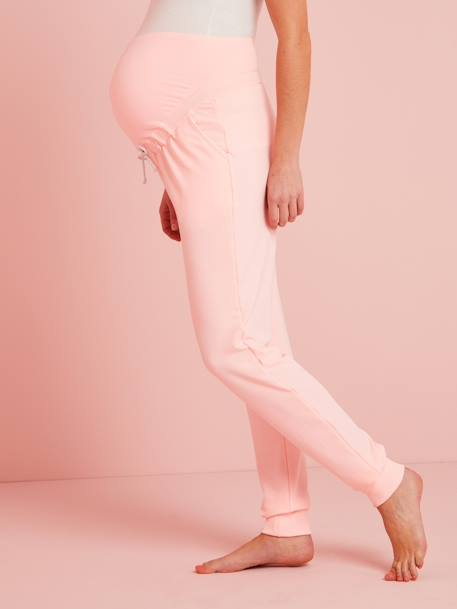Fleece Maternity Trousers PINK BRIGHT SOLID