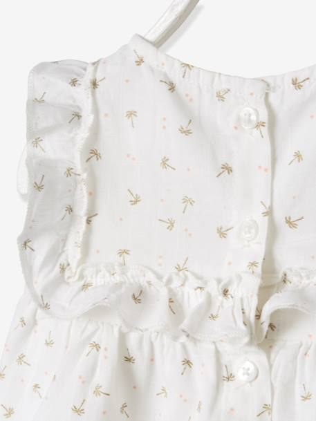 Blouse with Frill for Baby Girls WHITE LIGHT ALL OVER PRINTED+WHITE MEDIUM ALL OVER PRINTED