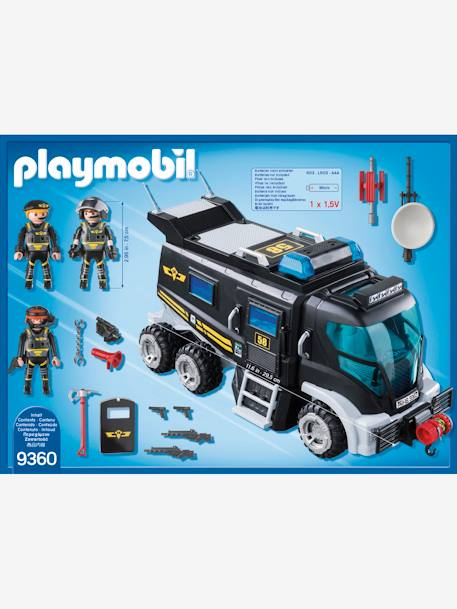9360 SWAT Truck by Playmobil BLACK MEDIUM SOLID WITH DESIGN