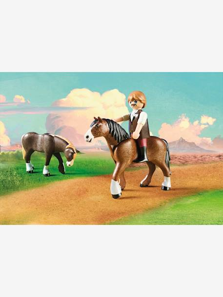 9477 Lucky's Dad & Wagon, by Playmobil BROWN LIGHT SOLID