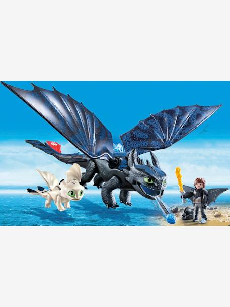 70037 Hiccup & Toothless with Baby Dragon, by Playmobil BLUE DARK GREYED