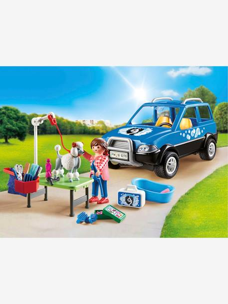 9278 Mobile Pet Groomer, by Playmobil BLUE MEDIUM SOLID WITH DESIGN