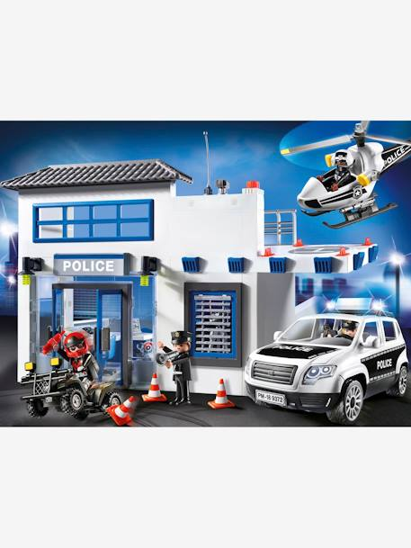 9372 Mega Police Station, by Playmobil WHITE MEDIUM SOLID