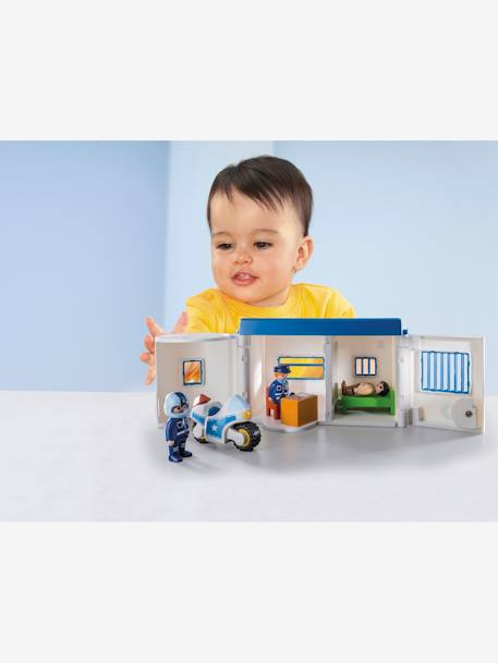 9382 1.2.3 Take Along Police Station, by Playmobil WHITE MEDIUM SOLID WITH DESIGN