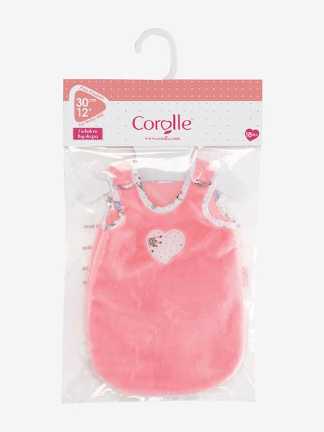 Sleep Bag for 30 cm Doll, by Corolle PINK MEDIUM SOLID WITH DESIG