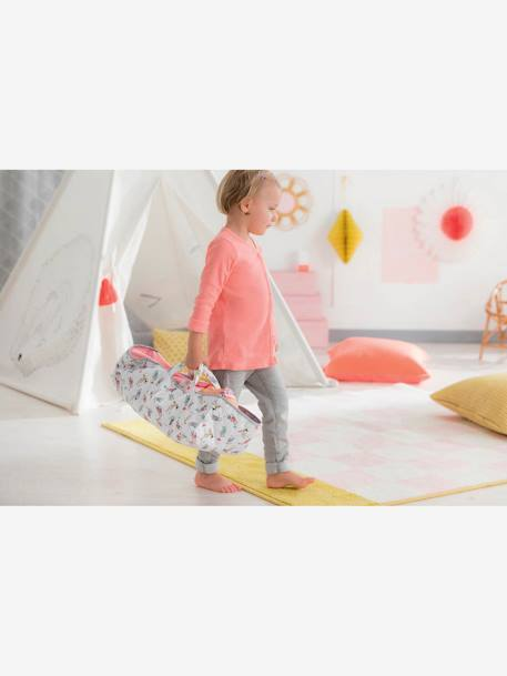 Carrycot for 36 cm & 42 cm Dolls, by Corolle GREY LIGHT ALL OVER PRINTED