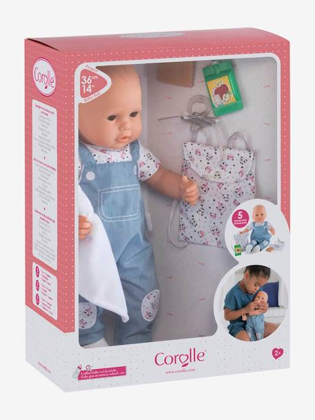 Gaby Goes to Nursery Set, by Corolle BLUE MEDIUM SOLID WITH DESIGN