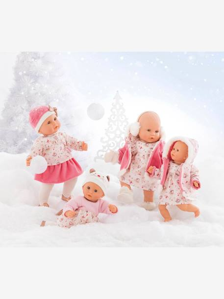 Lilly, Winter Magic Baby Doll by Corolle PINK LIGHT ALL OVER PRINTED