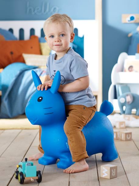 Jumping Rabbit BLUE LIGHT SOLID WITH DESIGN