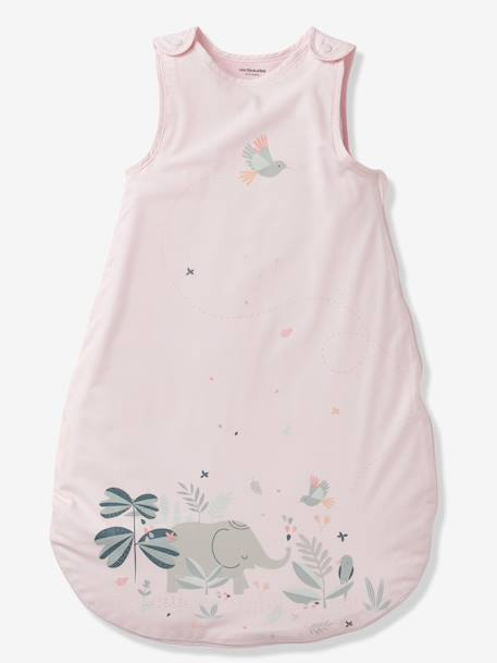Summer Special Baby Sleep Bag, INDIAN JUNGLE PINK LIGHT SOLID WITH DESIGN