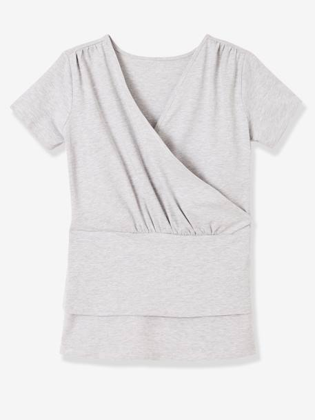 Skin-to-Skin T-Shirt for Premature Babies GREY LIGHT MIXED COLOR