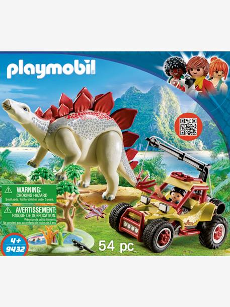 9432 Explorer with Vehicle & Stegosaurus, by Playmobil BEIGE DARK SOLID WITH DESIGN
