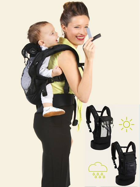 PhysioCarrier by JE PORTE MON BEBE BLACK DARK SOLID+GREY LIGHT SOLID