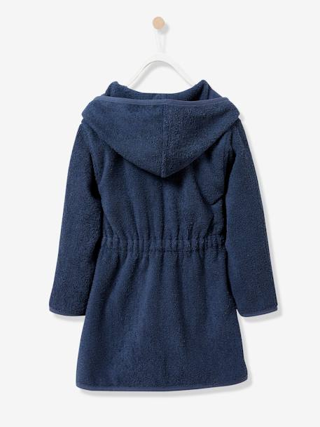 Child's Hooded Bathrobe BLUE LIGHT SOLID+Denim blue+GREEN LIGHT SOLID+Grey blue+Light violet+Pink+PINK MEDIUM SOLID+YELLOW DARK SOLID