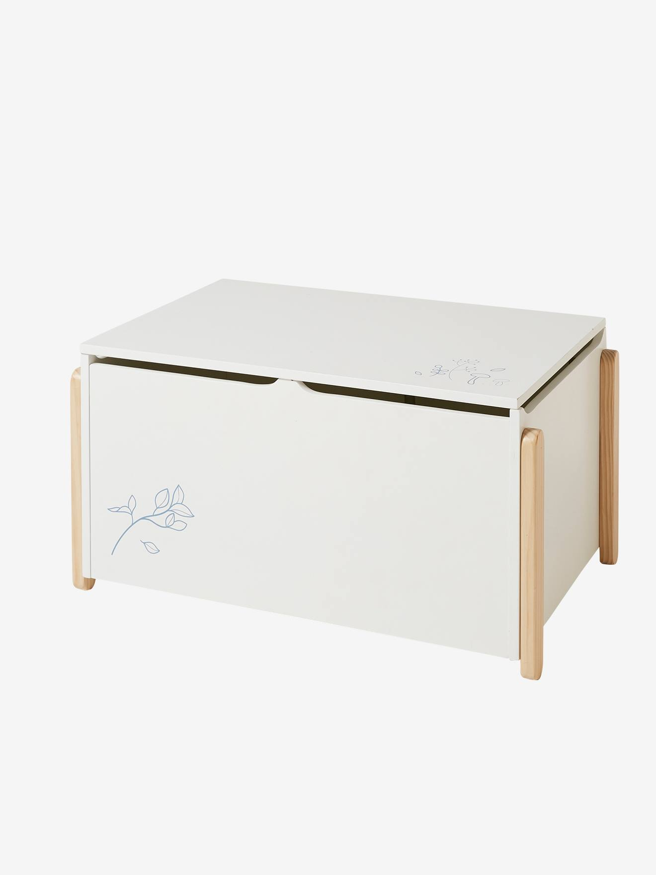 Small Chest For Toys White Light Solid Bedroom Furniture Storage Vertbaudet