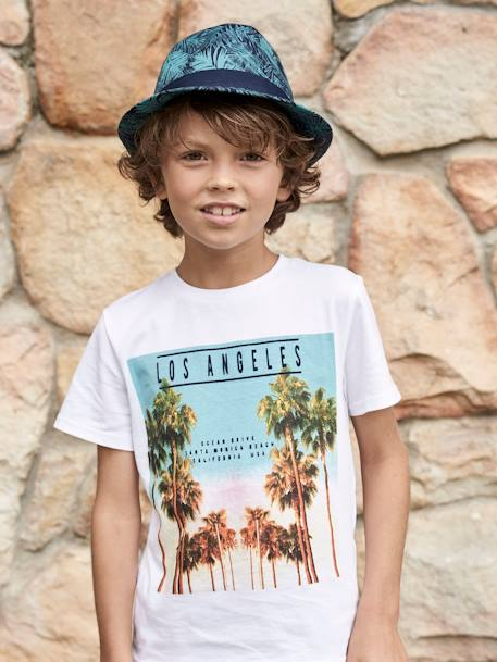 T-Shirt with Photo Print Motif for Boys BLUE DARK SOLID WITH DESIGN+GREEN LIGHT SOLID WITH DESIGN+WHITE LIGHT SOLID WITH DESIGN