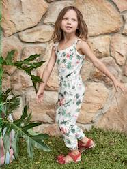 Girls-Dungarees & Playsuits-Jumpsuit for Girls, with Exotic Motif