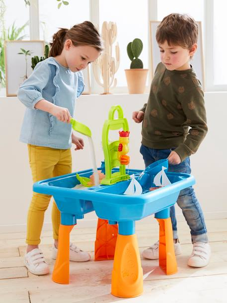 Outdoor Table Game, Sand & Water BLUE MEDIUM SOLID WITH DESIGN