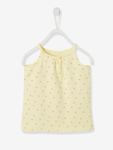 Top for Baby Girls BLUE DARK STRIPED+YELLOW LIGHT ALL OVER PRINTED
