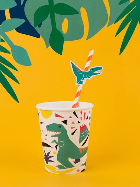 Set of 8 Paper Cups, MY LITTLE DAY GREEN MEDIUM ALL OVER PRINTED+WHITE BRIGHT ALL OVER PRINTED+WHITE MEDIUM ALL OVER PRINTED+YELLOW MEDIUM ALL OVER PRINTED