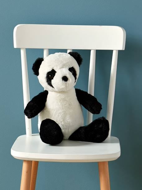 Panda Toy BLACK MEDIUM SOLID WITH DESIGN