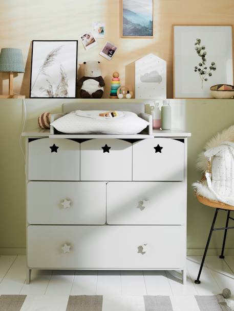 Dresser Baby Changer Grey+White