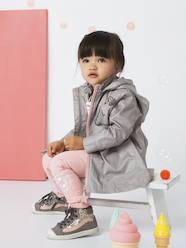 Girls-Coats & Jackets-Windcheater with Embroidered, Iridescent Unicorn for Girls