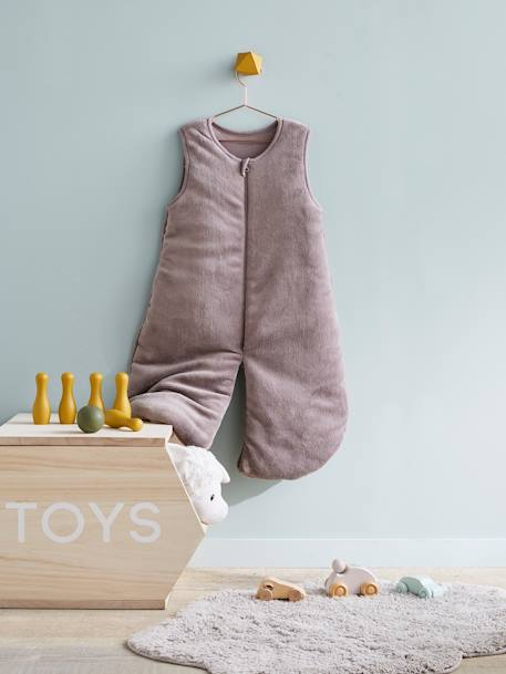 Microfibre Sleep Bag With Detachable Long Sleeve, For Strolling Ecru+GREY LIGHT SOLID+Taupe