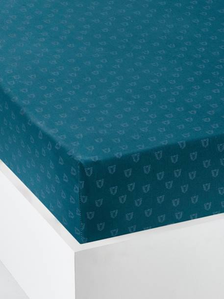 Fitted Sheet for Babies, Dans les Bois BLUE DARK ALL OVER PRINTED
