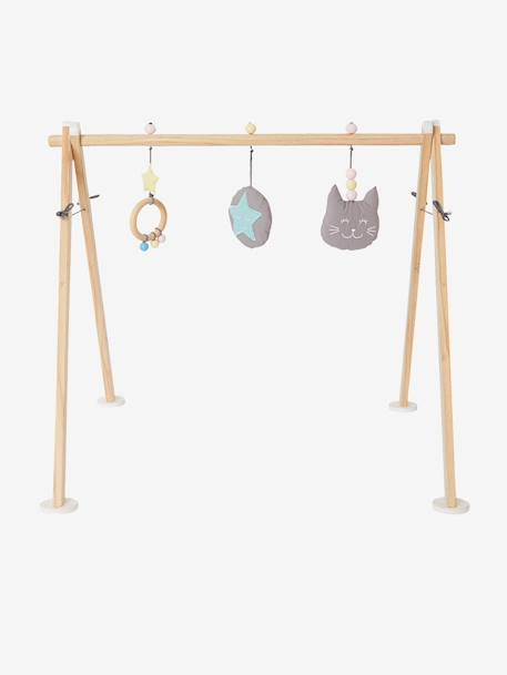 Wooden Activity Arch BROWN LIGHT SOLID WITH DESIGN