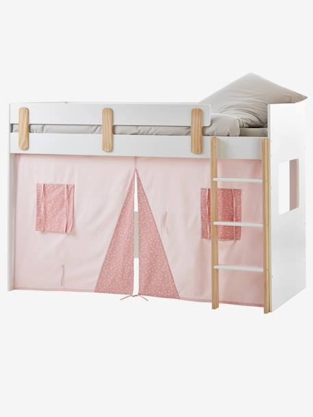 High Bed Curtain-Hut, Everest Blue+Pink