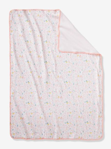 Throw in Microfibre, Romantique PINK LIGHT ALL OVER PRINTED
