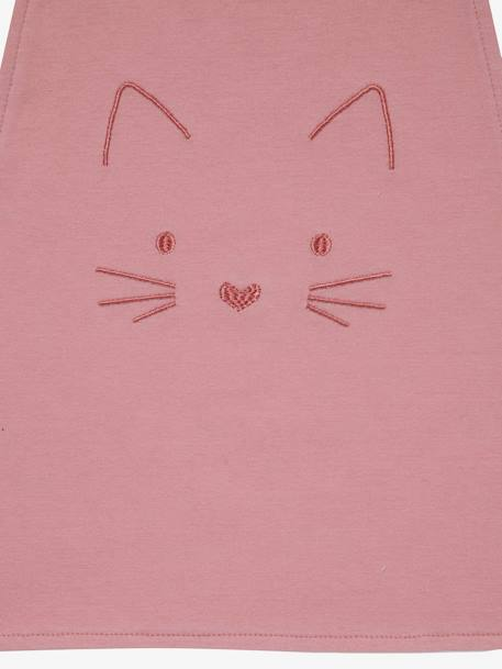 XXL Bib, Embroidered Animals BLUE MEDIUM SOLID WITH DESIGN+PINK MEDIUM SOLID WITH DESIG